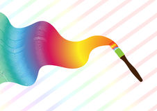 Rainbow Paint Brush Royalty Free Stock Photos