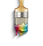 Rainbow paint Royalty Free Stock Images