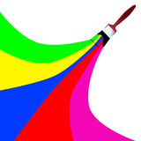 Rainbow paint brush vector royalty free illustration