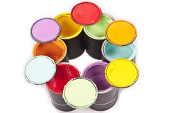 Rainbow Paint Color Circle Royalty Free Stock Photography