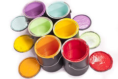 Rainbow Paint Color Diagonal Royalty Free Stock Photography