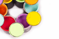Rainbow Paint Color Wheel Cropped Royalty Free Stock Image