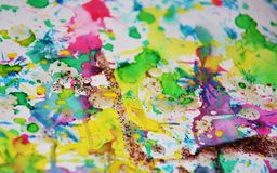 Rainbow paint colorful background, abstract paint background Royalty Free Stock Images