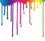 Rainbow paint dripping background, fluid splashes, liquid drops, ink droplets illustration. royalty free illustration