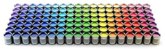 Rainbow paint palette Stock Photography
