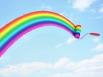 Rainbow paint on sky Royalty Free Stock Photos