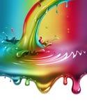 Rainbow paint splash Stock Photos