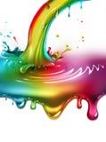 Rainbow paint splash Stock Photo
