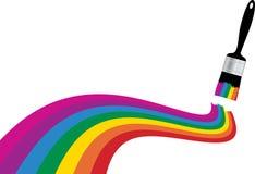 Rainbow paint stripe Stock Images