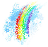 Rainbow painted Royalty Free Stock Photography