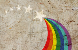 Rainbow painted Royalty Free Stock Photos