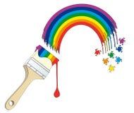 Rainbow painted. Isolated on white background Royalty Free Stock Photo
