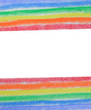 Rainbow painted with colored chalk Stock Photography