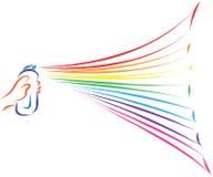 Rainbow painting Royalty Free Stock Photos