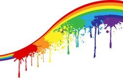 Rainbow paints Stock Image