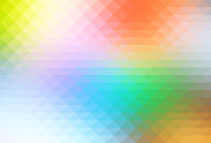 Rainbow pale colors rows of triangles background stock photography