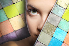 Rainbow palette of shadows Stock Photography