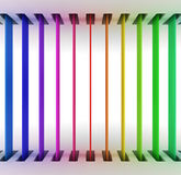 Rainbow panels Royalty Free Stock Image