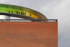 Rainbow panorama on Aros museum Royalty Free Stock Photography