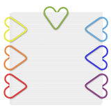 Rainbow Paper Clips Stock Image