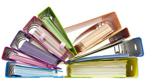 Rainbow paper folders Stock Photos