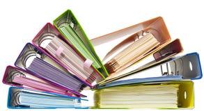 Rainbow paper folders stock photos