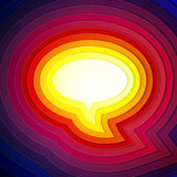 Rainbow paper layers chat bubble symbol Royalty Free Stock Photography
