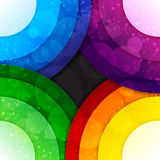 Rainbow paper layers circles and transparent bokeh. Abstract background.ector illustration Royalty Free Stock Photography