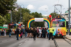 Rainbow Parade Vienna Stock Photography