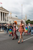 Rainbow Parade Vienna Royalty Free Stock Photography