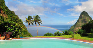 Rainbow in Paradise Royalty Free Stock Image