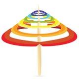 Rainbow parasol Stock Photography