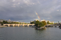Rainbow on paris Stock Images