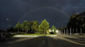 Rainbow in the park. Beautiful rainbow in a park at Dalat city, Vietnam Royalty Free Stock Photo