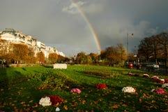 Rainbow on a park at Paris on France Royalty Free Stock Photos