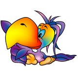 Rainbow Parrot vector illustration