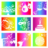 Rainbow parties Stock Images