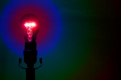 Rainbow Party Lightbulb Royalty Free Stock Photography