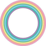 Rainbow pastel circle - vector element. Geometric detail for design, background, print and textile vector illustration