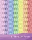 Rainbow pastel dot Stock Photo