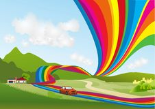 Rainbow path Royalty Free Stock Photography