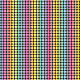 Rainbow pattern on black background. Rainbow dots background. Multicolor texture. Perfect for scrapbook and designs stock illustration