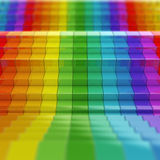 Rainbow pattern Stock Images