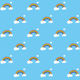 Rainbow Pattern EPS Stock Photo