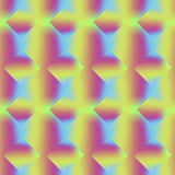 The rainbow pattern of rhombuses. Geometric colorful seamless pattern Royalty Free Stock Images