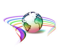 Rainbow peace Stock Photography