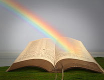Rainbow of peace bible Royalty Free Stock Photography