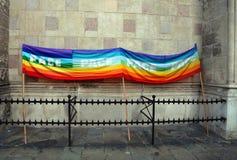 Rainbow peace flag Royalty Free Stock Photography