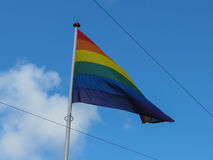 Rainbow peace flag Stock Images