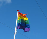 Rainbow peace flag Stock Photography